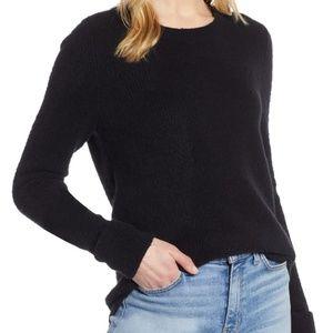 HALOGEN Cuffed Sleeve Ribbed Sweater Black XS